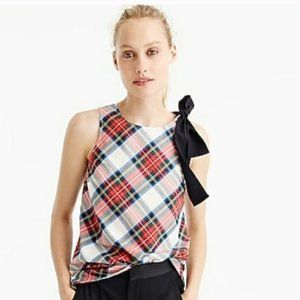 J. Crew Tartan Tank with Bow Tie